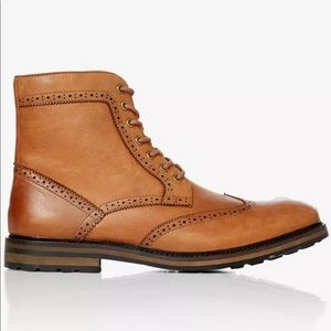 EXPRESS Winter Wool Lined Wingtip Oxford Boots